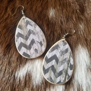 Handcrafted Chevon Earrings
